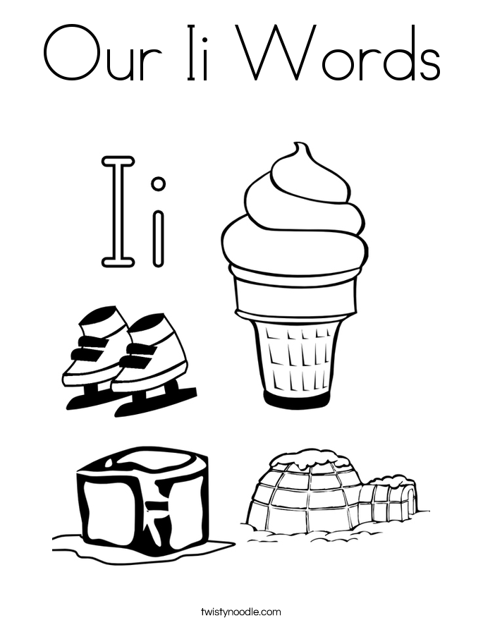 Our Ii Words Coloring Page