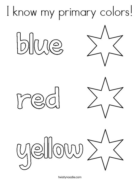 I know my primary colors! Coloring Page