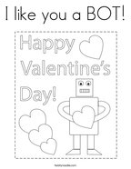 I like you a BOT Coloring Page