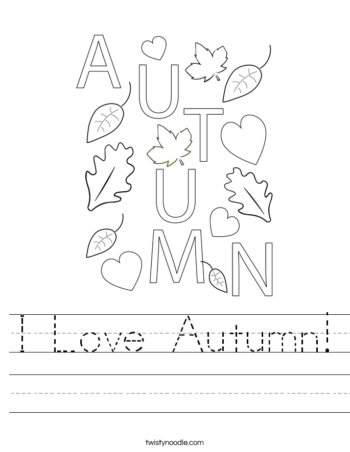 I Love Autumn! Worksheet