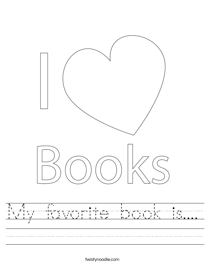 My favorite book is.... Worksheet