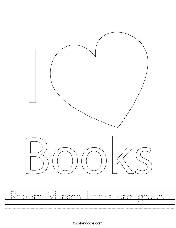Robert Munsch books are great! Worksheet