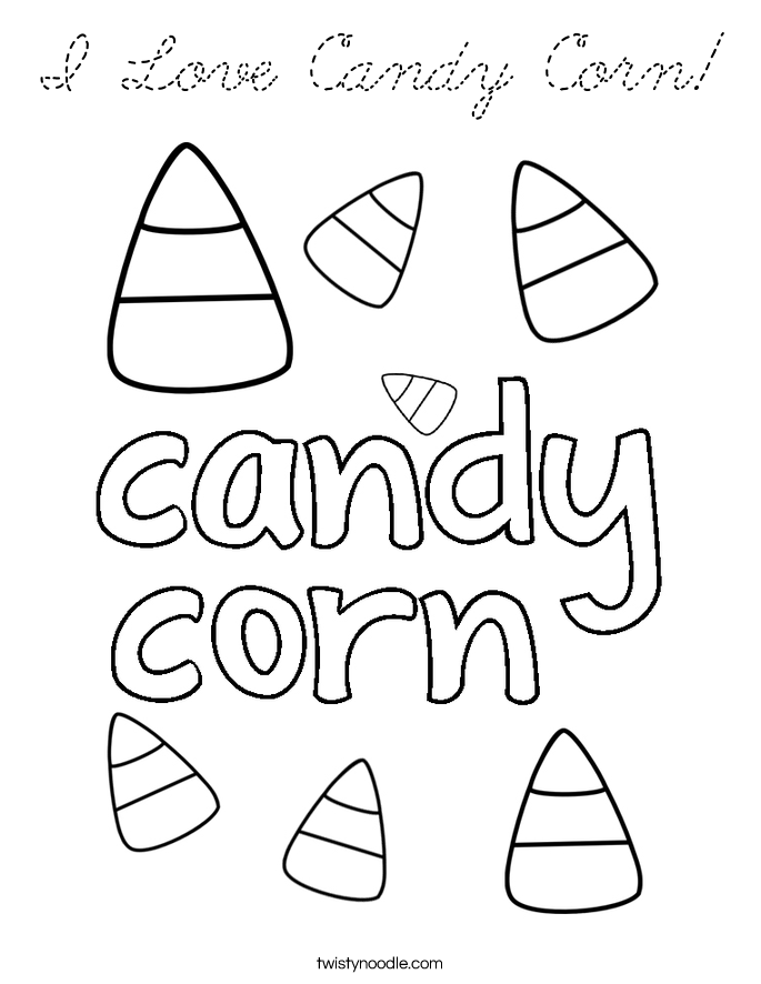 candy corn coloring pages - photo#44
