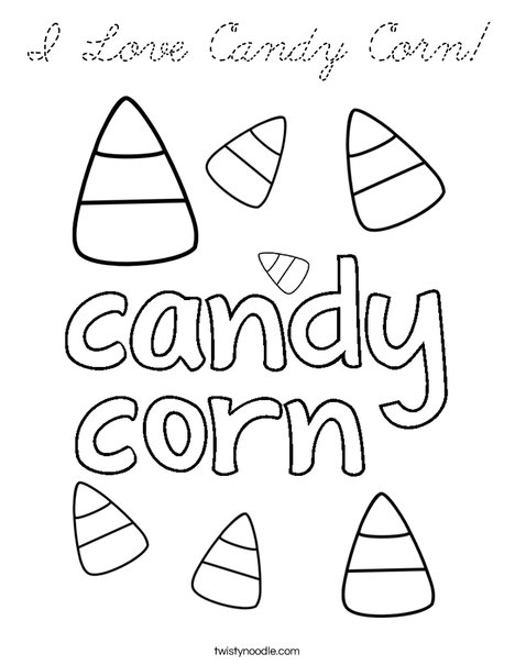 Kawaii candy corn coloring pages coloring pages for Candy corn coloring page