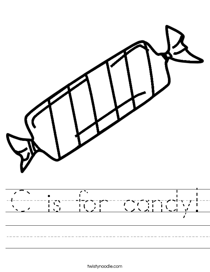 C is for candy! Worksheet