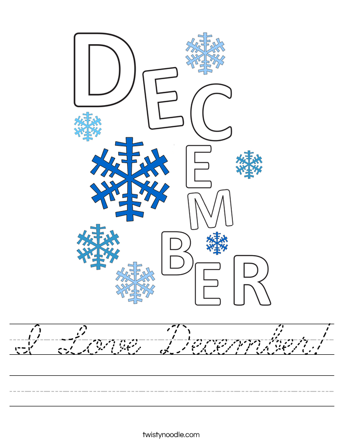 I Love December! Worksheet