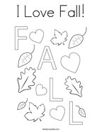 I Love Fall Coloring Page