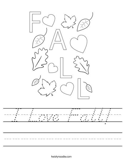 I Love Fall! Worksheet