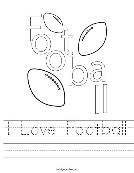 I Love Football! Worksheet