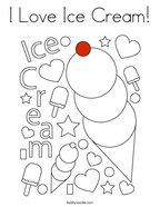 I Love Ice Cream Coloring Page