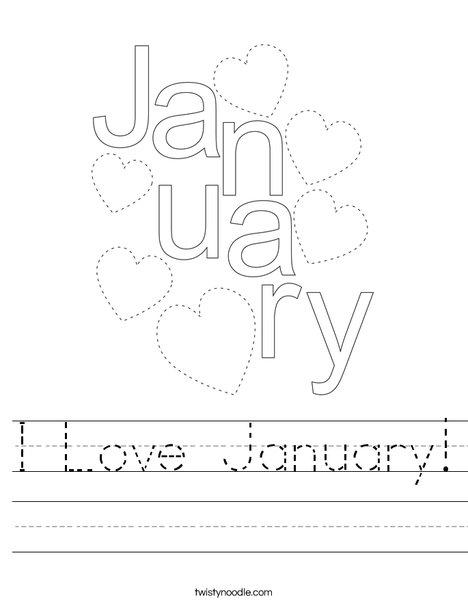 I Love January! Worksheet