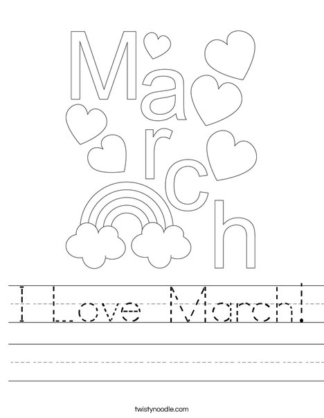 Hello March! Worksheet