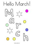 Hello March!Coloring Page