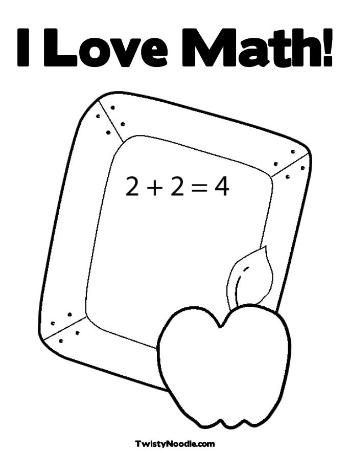 Coloring Pages Math : Free coloring pages of i love math