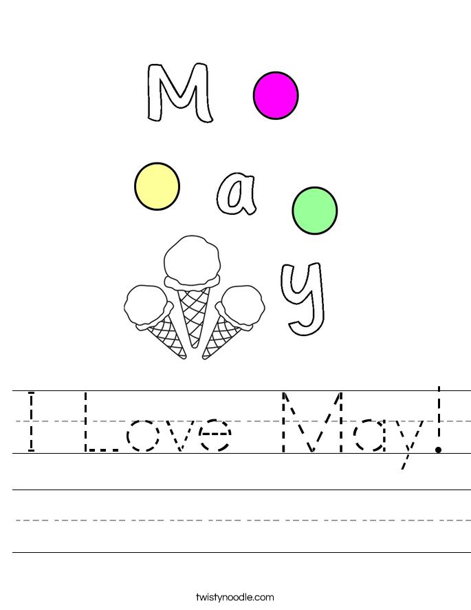 I Love May! Worksheet