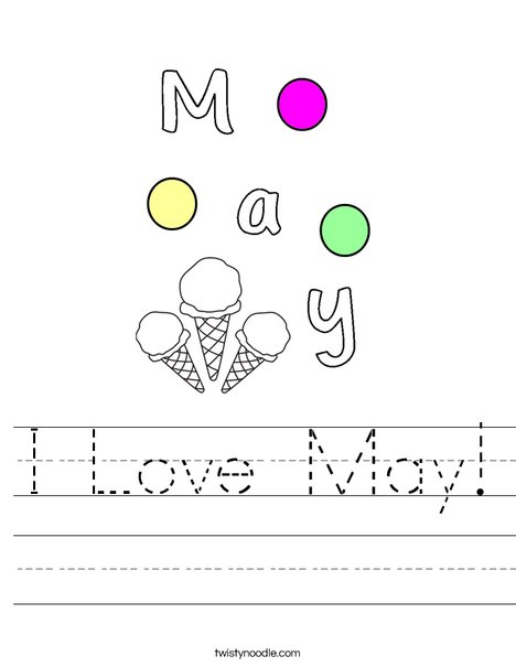 I Love May! Worksheet