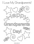 I Love My Grandparents! Coloring Page