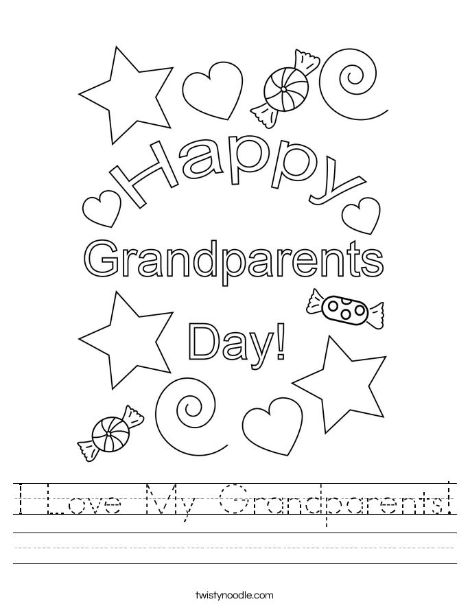 I Love My Grandparents! Worksheet