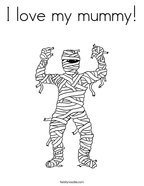 I love my mummy Coloring Page
