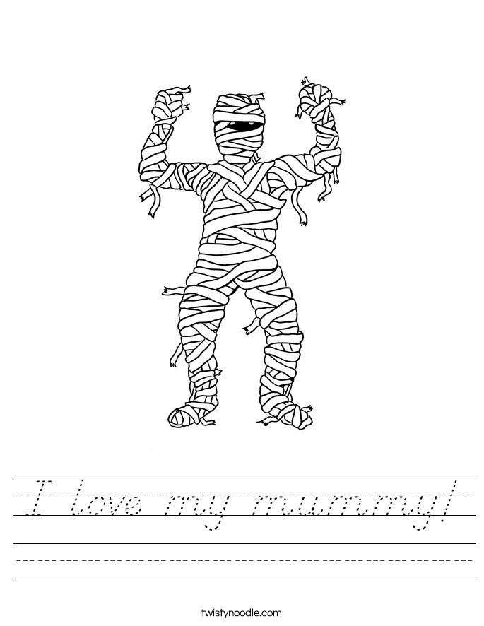 I love my mummy! Worksheet