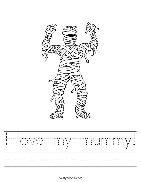 I love my mummy! Worksheet