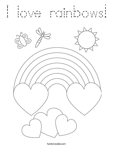 I love rainbows! Coloring Page