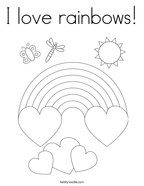 I love rainbows Coloring Page