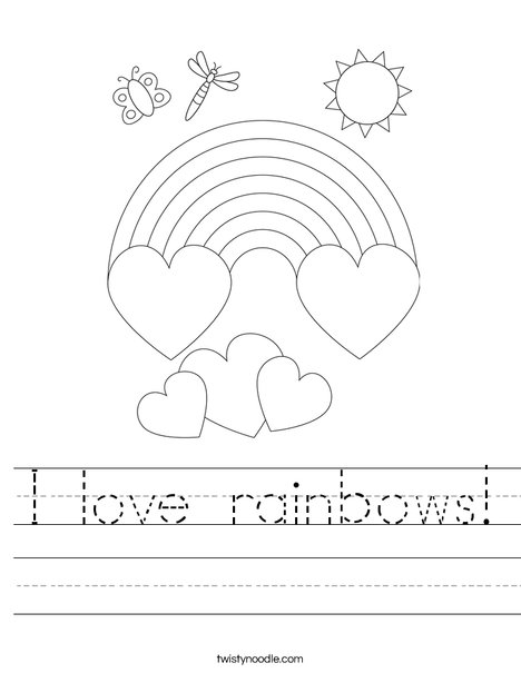I love rainbows! Worksheet