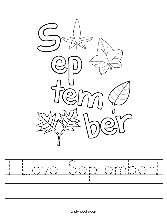 I Love September! Worksheet