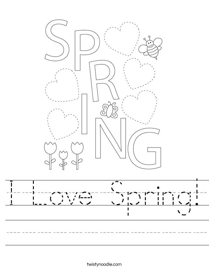 I Love Spring! Worksheet