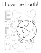 I Love the Earth Coloring Page