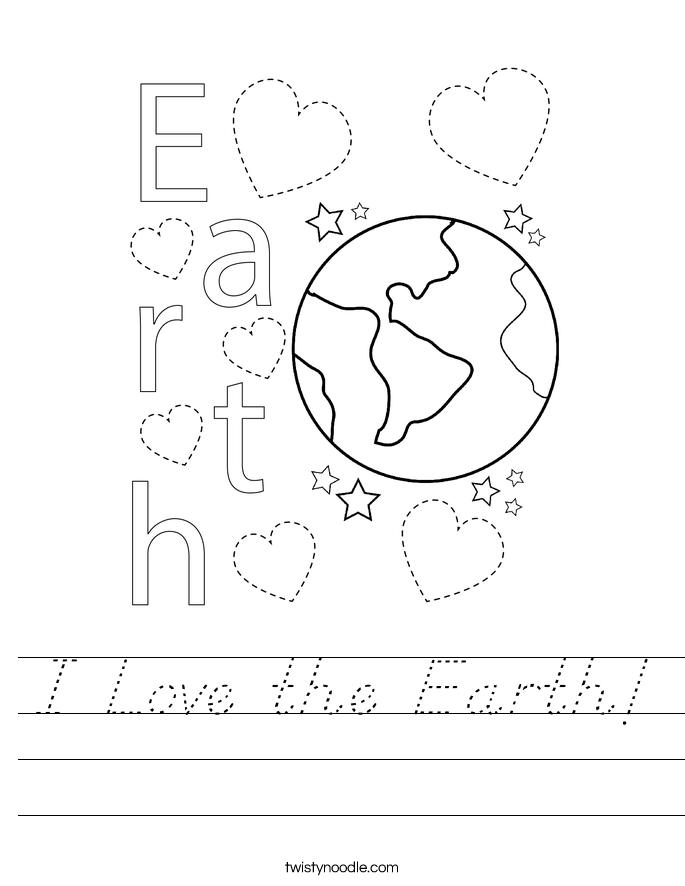 I Love the Earth! Worksheet