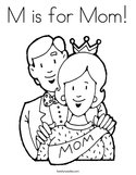 M is for Mom Coloring Page
