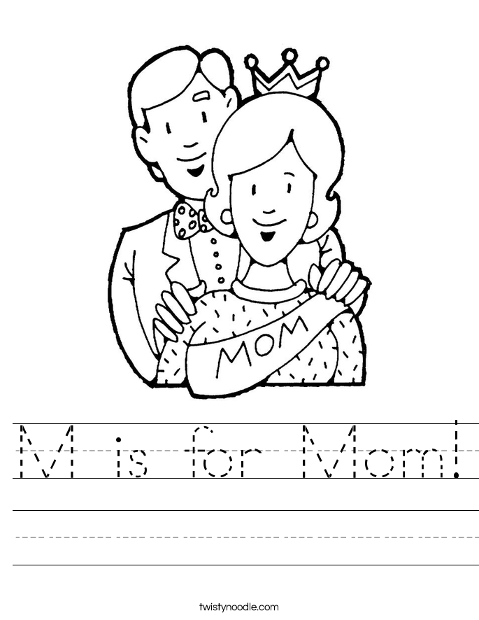 M is for Mom! Worksheet