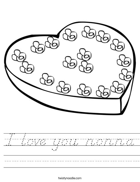 Heart Box of Candy Worksheet