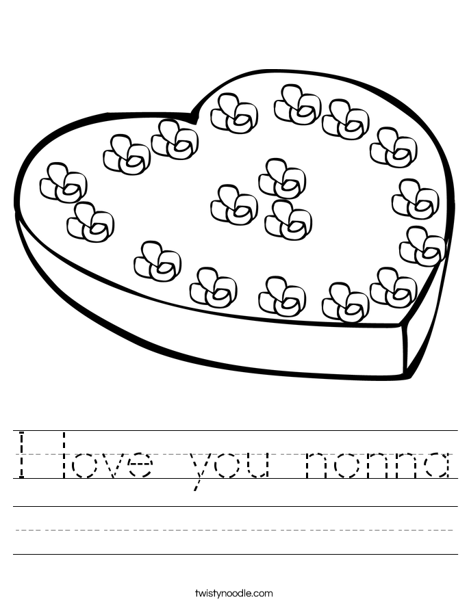 I love you nonna Worksheet