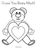 I Love You Beary Much! Coloring Page