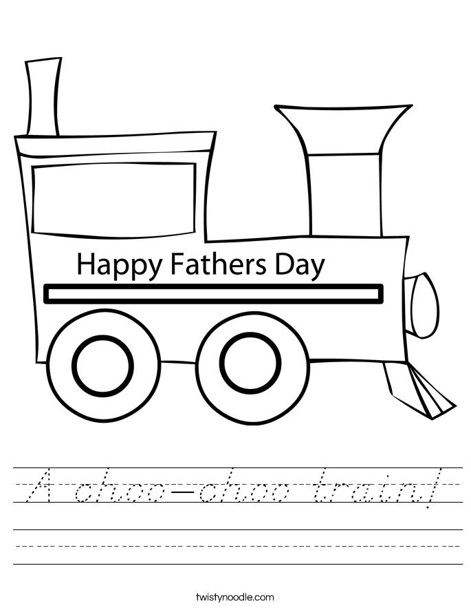 A choo-choo train! Worksheet