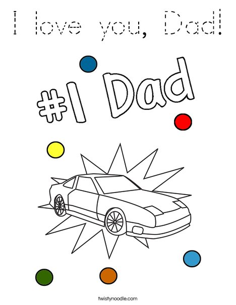 I love you, Dad! Coloring Page