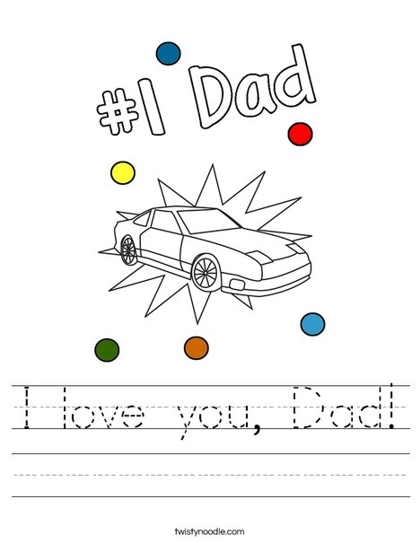 I love you, Dad! Worksheet