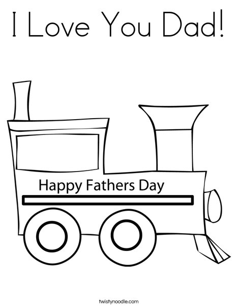 I Love You Dad Coloring Page - Twisty Noodle