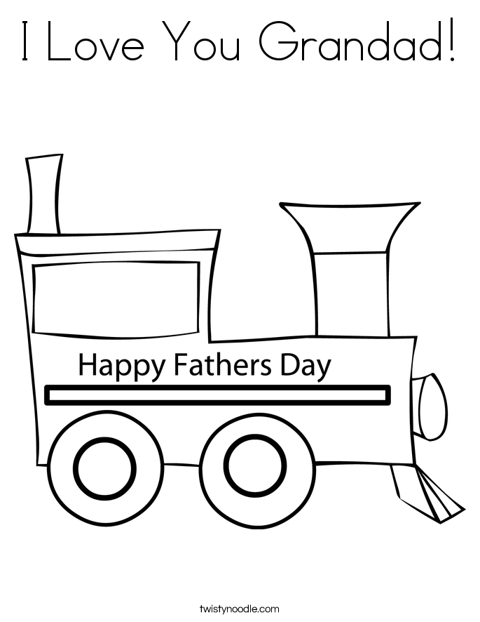 I Love You Grandad! Coloring Page