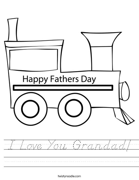 Father's Day Train Worksheet