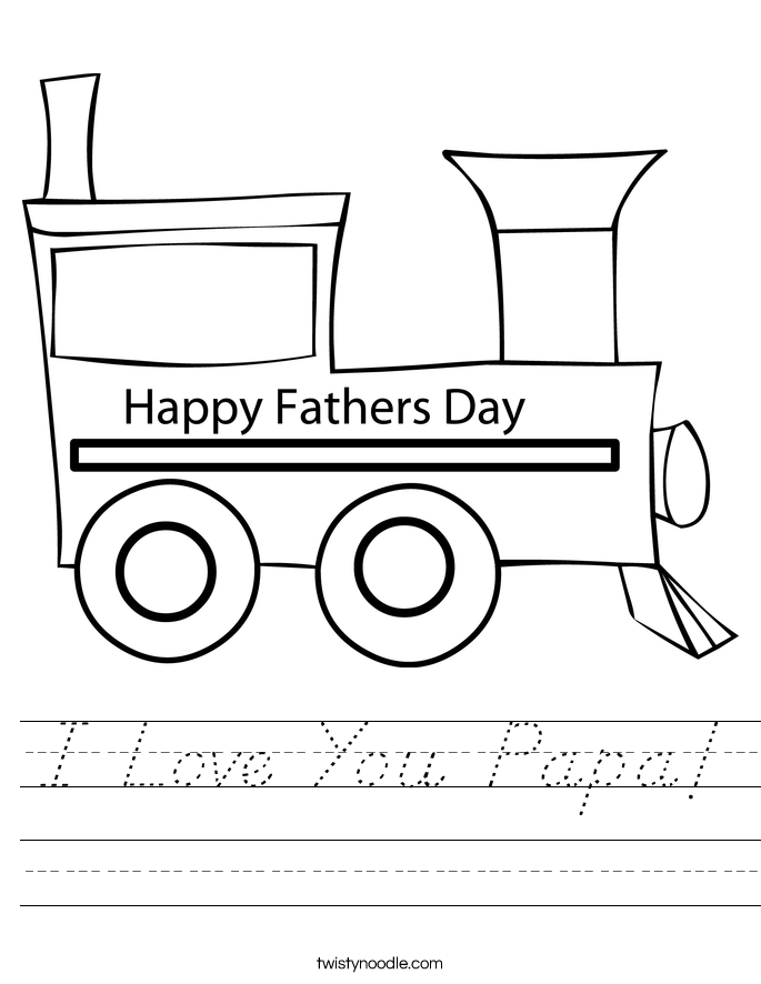 I Love You Papa! Worksheet