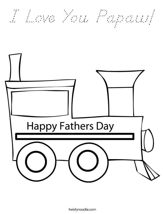 I Love You Papaw! Coloring Page