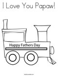 I Love You Papaw!Coloring Page