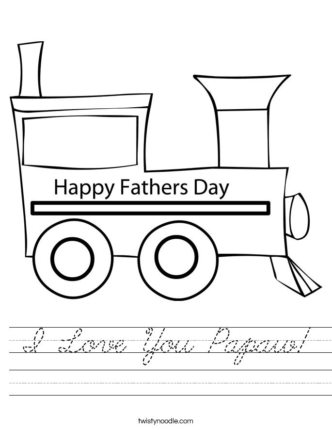 I Love You Papaw! Worksheet