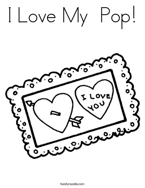 i love you postcard coloring page
