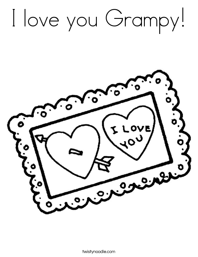 I love you Grampy! Coloring Page