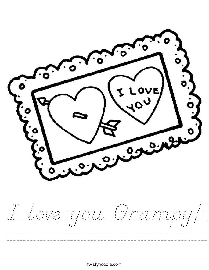 I love you Grampy! Worksheet
